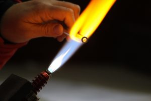 Strawesome Glass Straw Being Made on Torch
